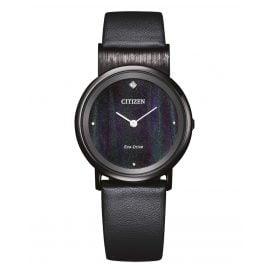 Citizen EG7095-13E Eco-Drive Damen-Armbanduhr Titan Schwarz