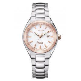 Citizen EW2616-83A Eco-Drive Solar Damen-Armbanduhr Titan Bicolor