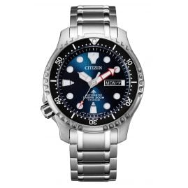 Citizen NY0100-50M Promaster Automatic Diver Men's Watch Titanium Dark Blue
