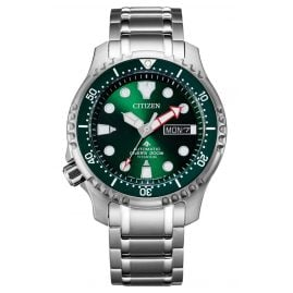 Citizen NY0100-50X Promaster Automatic Diver Men's Watch Titanium Green