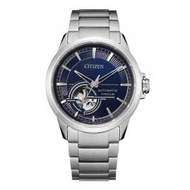 Citizen NH9120-88L Men's Automatic Watch Titanium Blue
