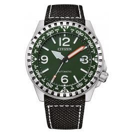 Citizen NJ2198-16X Herren-Armbanduhr Automatik Schwarz/Grün