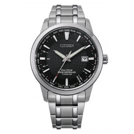 Citizen CB0190-84E Eco-Drive Radio-Controlled Watch for Men Titanium Black