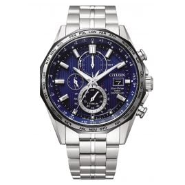 Citizen AT8218-81L Eco-Drive Men's Chronograph Radio-Controlled Titanium Blue