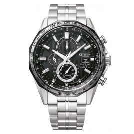 Citizen AT8218-81E Eco-Drive Men's Chronograph Radio-Controlled Titanium Black