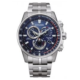Citizen CB5880-54L Eco-Drive Men's Chronograph Radio-Controlled Blue