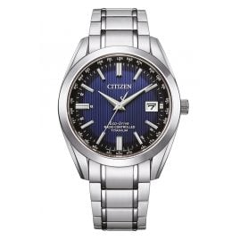 Citizen CB0260-81L Eco-Drive Radio-Controlled Solar Men's Watch Titanium Blue