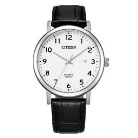 Citizen BI5070-06A Quartz Men's Watch Black Leather Strap