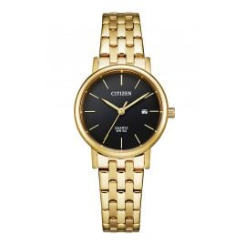 Citizen EU6092-59E Ladies' Watch Stainless Steel gold/black