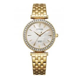 Citizen ER0212-50Y Women's Watch Gold Plated Stainless Steel