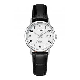Citizen EU6090-03A Ladies' Wristwatch with Leather Strap