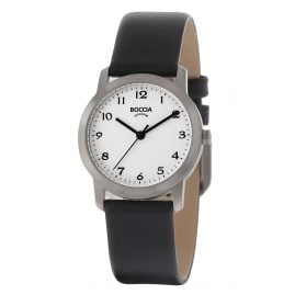 Boccia 3291-01 Titanium Ladies' Watch with Leather Strap