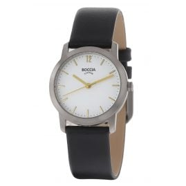 Boccia 3291-02 Titanium Ladies' Wristwatch with Leather Strap