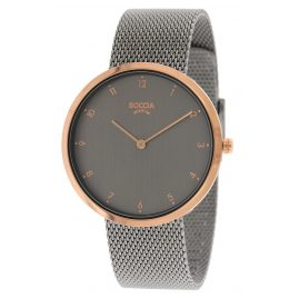 Boccia 3309-10 Titanium Ladies' Watch with Grey Stainless Steel Mesh Bracelet