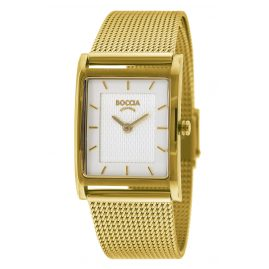 Boccia 3294-06 Titanium Women's Watch with Stainless Steel Mesh Bracelet gold