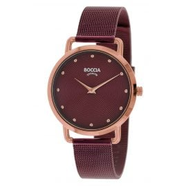 Boccia 3314-08 Women's Watch Titanium / Stainless Steel Red
