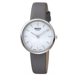 Boccia 3279-07 Titanium Ladies' Watch Grey Leather Strap
