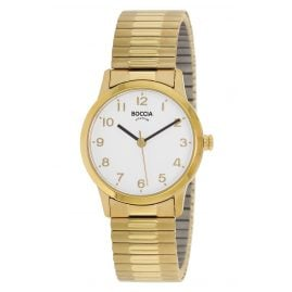 Boccia 3318-02 Ladies' Watch with Titanium Elastic Strap gold tone