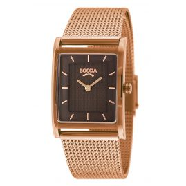 Boccia 3294-07 Titanium Women's Watch with Mesh Bracelet Rose Gold Tone