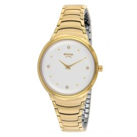 Boccia 3276-14 Titanium Ladies' Wristwatch Trend Gold Tone
