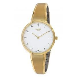 Boccia 3325-03 Women's Watch Titanium with Sapphire Crystal Gold Tone