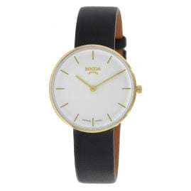 Boccia 3327-04 Ladies' Watch Titanium Sapphire Crystal Leather Strap