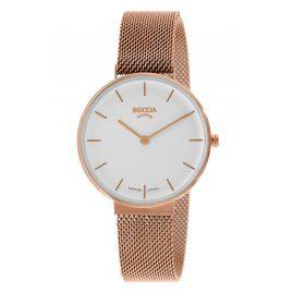 Boccia 3327-11 Women's Watch Titanium Sapphire Crystal Rose Gold Tone