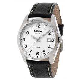 Boccia 3608-13 Titanium Men's Watch with Black Leather Strap