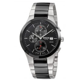 Boccia 3748-01 Men's Watch Chronograph Titanium / Black Ceramic