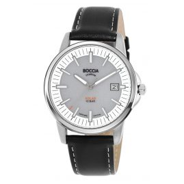 Boccia 3643-01 Men's Solar Watch Titanium with Sapphire Crystal grey/black