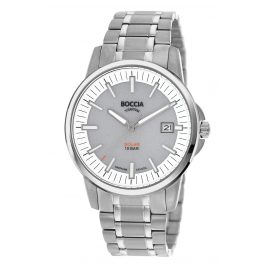 Boccia 3643-03 Solar Men's Watch Titanium with Sapphire Crystal grey