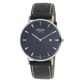 Boccia 3648-02 Men's Watch Titanium Black/Dark Blue