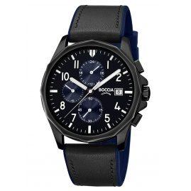 Boccia 3747-03 Chronograph Herrenuhr Titan Schwarz/Blau