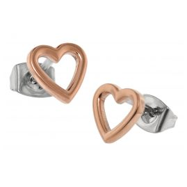 Boccia 05029-03 Titanium Ladies' Stud Earrings Heart Rose