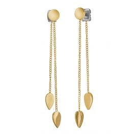 Boccia 05037-02 Titanium Dangle Earrings Gold Tone