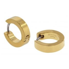 Boccia 0510-13 Titanium Hoop Earrings gold