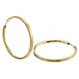Boccia 0508-09 Ladies Hoop Earrings Titanium gold-plated
