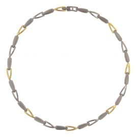 Boccia 08039-02 Titanium Ladies Necklace Two-Colour Gold