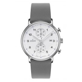 Junghans 041/477-Grau Men's Wristwatch Chronoscope Form C