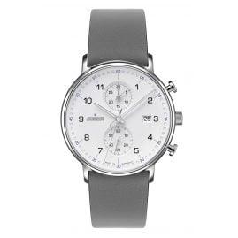Junghans 041/477-Grau Herren-Armbanduhr Chronoscope Form C