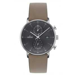 Junghans 041/487-Taupe Men's Watch Chronoscope Form C