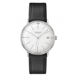 Junghans 027/4105.02 max bill Watch Small Automatic Black/Silver Tone