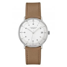 Junghans 027/4107.02 max bill Wristwatch Small Automatic Beige/Silver Tone