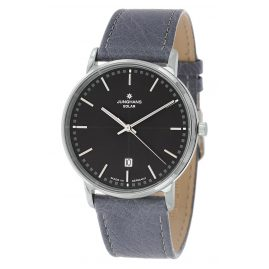 Junghans 014/406-Strauß Men's Wristwatch with 2 Leather Straps Milano Solar