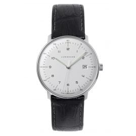 Junghans 041/446-Reptile Schwarz max bill Quartz Watch with 2 Leather Straps