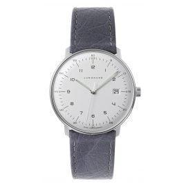Junghans 041/446-Strauß max bill Quarz Armbanduhr mit 2 Lederbändern