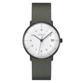 Junghans 027/4005.04 max bill Watch Small Automatic Nato Strap Green