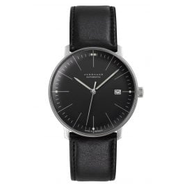 Junghans 027/4701.02 max bill Men's Automatic Watch Sapphire Crystal Black