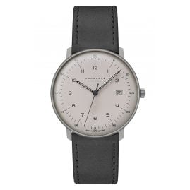 Junghans 059/2023.04 max bill Mega Solar Men's Radio-Controlled Watch Titanium