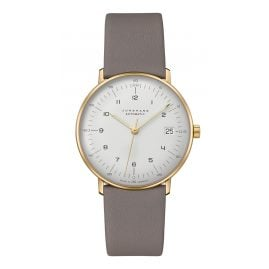Junghans 027/7108.02 max bill Wristwatch Small Automatic Grey/Gold Tone